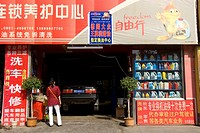 China, Xinjiang, Urumqi, garage