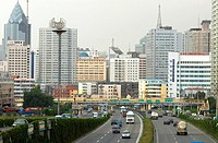 China, Xinjiang, Urumqi, urban landscape
