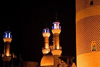 China, Xinjiang, Urumqi, mosque by night