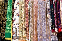 China, Xinjiang, Urumqi, fabric
