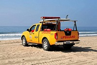 Life Guard Truck Hermosa Beach Los Angeles County California USA