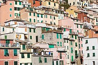 Italy, Liguria, Riomaggiore, Houses
