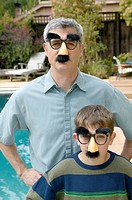 Father and son in disguises