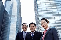 Three business associates low angle view portrait