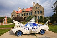 Great White Shark by High School Kids, Museum of Art, Paris Gibson Square, Great Falls, Montana, USA