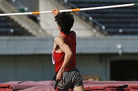 Athlete Preparing to Jump