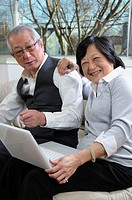 Senior asian couple enjoy spending time together