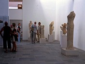 Visitors at Samos Museum Greece