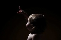 A baby girl pointing (thumbnail)