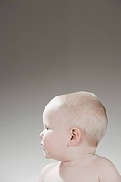 Profile of a baby boy