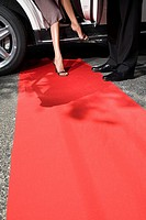 Stepping onto red carpet