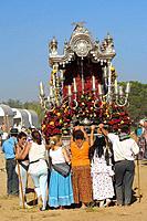 ´Romería´ (pilgrimage) to El Rocío. Almonte, Huelva province, Andalucia, Spain