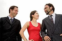 Multi_ethnic businesspeople laughing