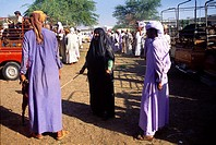Abu Dhabi UAE Al Ain Veiled Woman Wearing Abeyya At Livestock Market