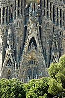 Church of the Holy Family, architect Antonio Gaudi, Barcelona, Catalonia, Spain, Sagrada Familia, Temple Expiatori de la Sagrada Familia, Expiatory Te...