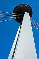 New bridge, Danube river, Bratislava, Slovakia