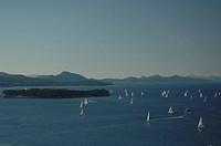 Croatia - Dalmatia - Dubrovnik. Sailing boats