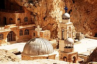 Syria - Ma'lula. Greek-orthodox monastery of Mar Takla (St. Thecla)