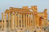 Syria - Palmyra.Ancient Palmyra.UNESCO World Heritage List, 1980.Triumphal Arch, 1st-2nd century AD