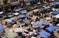 Ecuador - Imbabura Province - Otavalo. Worldwide famous, largest in Latin America weekly Andean market