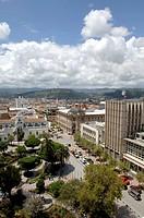 Ecuador - Azuay Province - Cuenca. Historic Cuenca. UNESCO World Heritage List, 1999. Main square, Parque Calderón