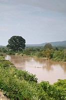 Ecuador - Esmeraldas Province. Esmeraldas River near homonymous city