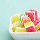 Colorful Gummies in Dish