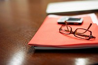 File Folder and Eyeglasses
