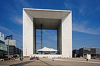 France, Europe, Paris, city, La Defense District, Grande Arche, arch, building, modern, architekture, people, square