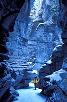 Canada, North America, America, Maligne Canyon, Winter, Jasper, national park, UNESCO, World heritage site, landscape,