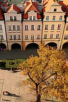 Market Square, old town of Jelenia Gora. Lower Silesia, Poland