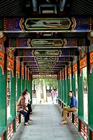asia, china, peking, summer palace, long corridor