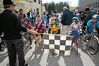 cycling, children