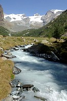 europe, italy, valle d´aosta, val d´ayas, pian di verra lower, ayas stream