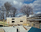 MULGRAVE SCHOOL WOOLWICH, GREENWICH, LONDON, SE10 GREENWICH, UK, DANNATT JOHNSON ARCHITECTS, EXTERIOR, PRE_SCHOOL YARD