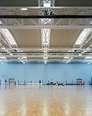 BATH UNIVERSITY SPORTS VILLAGE, UNIVERSITY OF BATH, BATH, BATH & N E SOMERSET, UK, DAVID MORLEY ARCHITECTS, INTERIOR, MULTI PURPOSE HALL