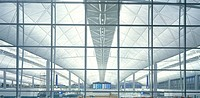 CHEK LAP KOK, HONG KONG INTERNATIONAL AIRPORT, HONG KONG, HONG KONG, FOSTER & PARTNERS, INTERIOR, THROUGH FRONT ELEVATION