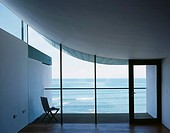 NAUTILUS, GOLF LINKS ROAD, WESTWARD HO!, DEVON, UK, GUY GREENFIELD ARCHITECTS, INTERIOR, VIEW TOWARD BALCONY