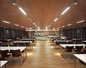 ROLLS_ROYCE MOTOR CARS LIMITED, THE DRIVE, WESTHAMPNETT, CHICHESTER, WEST SUSSEX, UK, GRIMSHAW, INTERIOR, STAFF RESTAURANT