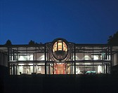 THE SPINE HOUSE, OBERKULHEIM, GERMANY, GRIMSHAW, EXTERIOR, NIGHT EXTERIOR