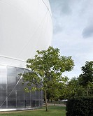 SERPENTINE PAVILION 2006, HYDE PARK, LONDON, SW1 VICTORIA, UK, REM KOOLHAAS _ OFFICE FOR METROPOLITAN ARCHITECTURE, EXTERIOR, EXTERIOR DETAIL WITH TRE...