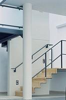 OFFICE, UNION STREET, LONDON, SE1 SOUTHWARK + BERMONDSEY, UK, STUDIO E ARCHITECTS LTD, EXTERIOR, DAY, LOWER GROUND LEVEL STAIR