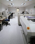 BUCKLAND PRESS, DOVER, KENT, UK, UNKNOWN OR N/A, INTERIOR, OVERALL VIEW OF DIGITAL SUITE WITHOUT PEOPLE