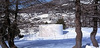 THE SNOW SHOW, SESTRIERE, TURIN, ITALY, YOKO ONNO AND ARATA ISOZAKI, EXTERIOR, PENEL COLONY