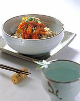 Korean cuisine _ noddles and chopsticks