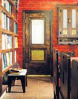 Study room with book shelf