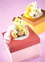 Teddy bear on the gift box