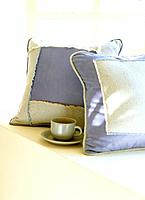 Pillows and teacup