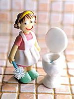 Paper clay toy, housewife