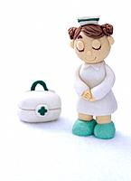 Paper clay toy, nurse